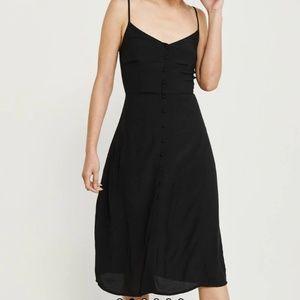 Abercrombie & Fitch Black Midi Dress XS